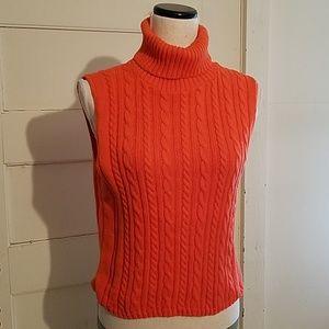 Vintage Absolutely Sleeveless Turtleneck Sweater